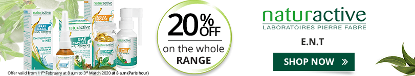 20% off on the whole Naturactive E.N.T range