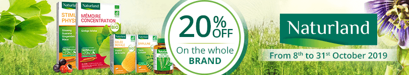 20% off on all the Naturland products