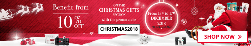 10% off on the christmas gifts section with the promo code CHRISTMAS2018