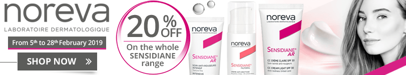 20% off on the whole Noreva Sensidiane range