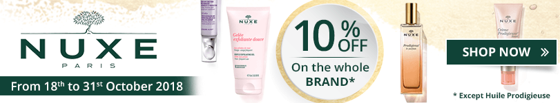 10% off on all the Nuxe products, except Huile Prodigieuse