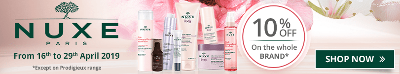 10% off on all the Nuxe products (Except on Prodigieux range)