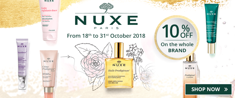 10% off on all the Nuxe products