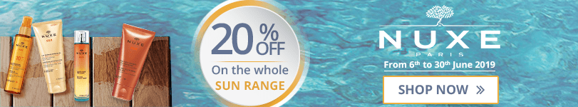 20% off on the whole Nuxe Sun range