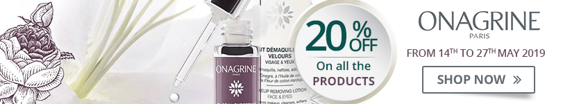 20% off on all the Onagrine products