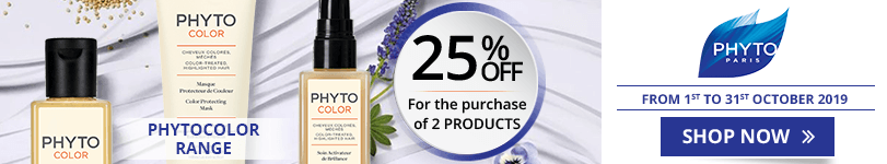 For the purchase of 2 Phyto PhytoColor products = 25% off