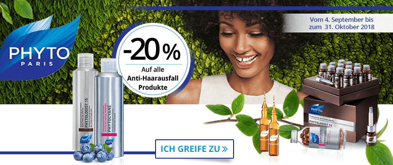 -20% auf alle Phyto Anti-Haarausfall Produkte