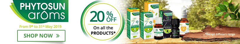 20% off on all the Phytosun Arôms products (Except diffusers range)