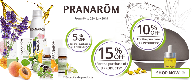 1 Pranarôm product purchased = 5% off. 2 Pranarôm products purchased = 10% off. 3 Pranarôm products purchased = 15% off