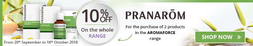 10% off on the whole Pranarôm Aromaforce range