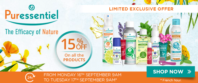 15% off on all the Puressentiel products