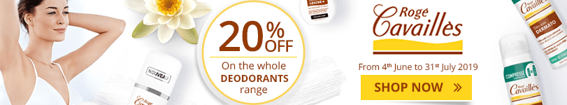 20% off on the whole Rogé Cavaillès Deodorants range