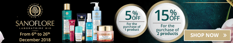 1 Sanoflore product purchased = 5% off. 2 Sanoflore products purchased = 15% off