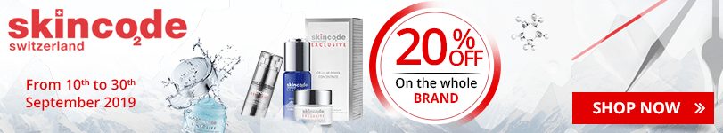 20% off on all the Skincode products