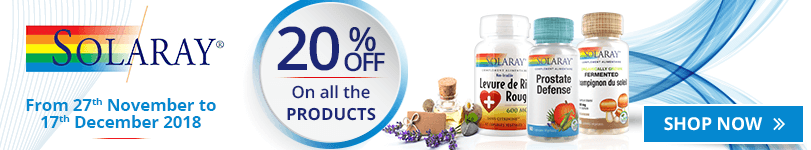 20% off on all the Solaray products