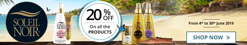 20% off on all the Soleil Noir products