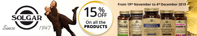 15% off on all the Solgar products
