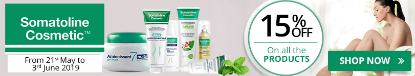 15% off on all the Somatoline Cosmetic products