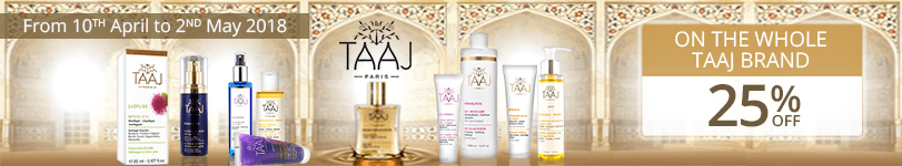 25% off on all the Taaj products