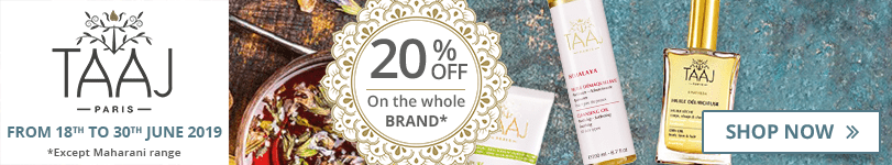 20% off on all the Taaj products (except Maharani range)