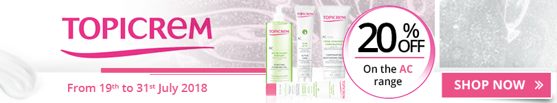 20% off on the whole Topicrem AC (Combination to oily skins) range