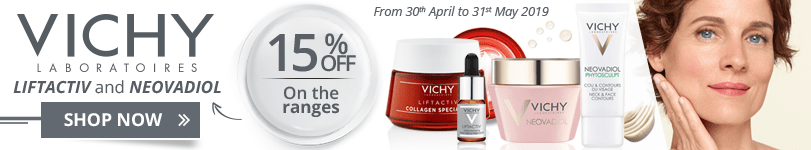 15% off on the Vichy LiftActiv and Neovadiol ranges
