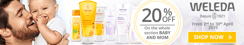 Weleda Offer: 20% off on the whole section Baby and Mom